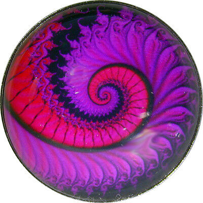 "Crystal Dome Button Mystical Spiral Lg Sz 1 & 3/8""  MS 37"