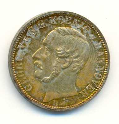 Germany German States Hannover Silver 1/6 Thaler 1860 B Lustrous UNC !!!