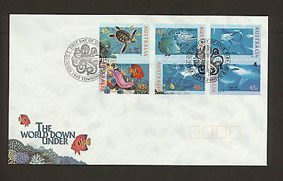 1995 FDC1561 WORLD DOWN UNDER BLOCK 6 First Day Cover TOWNSVILLE QLD 4810 Pmk