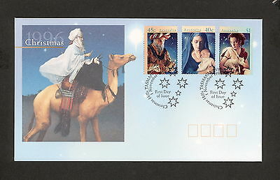 1996 FDC1658 CHRISTMAS First Day Cover Christmas Hills Date Stamp