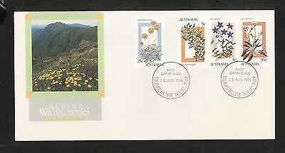 1986 FDC1031 ALPINE WILDFLOWERS FDC HOMEBUSH NSW 2140 Postmark