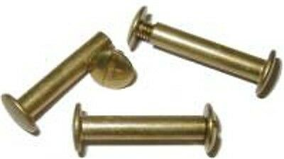 "LOT OF 6 EACH  Screw Post - Brass - 1""   B3747-6"