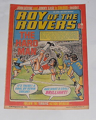 Roy Of The Rovers Comic 18Th April 1981 John Devine Of Arsenal