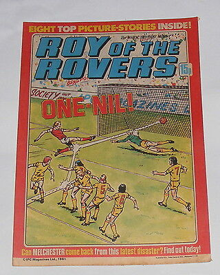 Roy Of The Rovers Comic 21St March 1981 Ricky Hill Of Luton Town