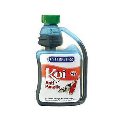 250ml INTERPET KOI ANTI PARASITE FISH POND WHITE SPOT TREATMENT BLAGDON