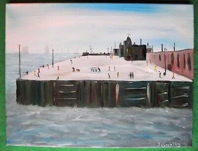 """"""" The Knot Quay """" Northern Art Original Oil Painting by John Goodlad"""