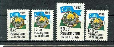 BANDIERA & STEMMA - NATIONAL FLAG & COAT UZBEKISTAN 1993 Common Stamps