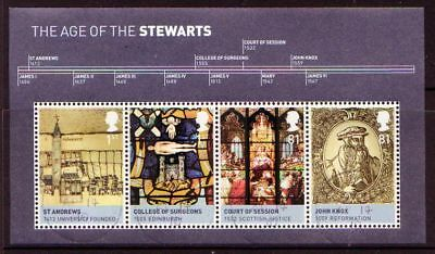 Great Britain 2010 Age Of Stewarts Miniature  Sheet Fine Used