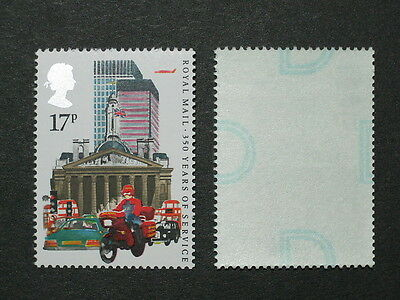 SG 1290Eu 17p 350 Years Royal Mail with Type 3 underprint MNH