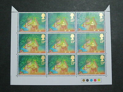 SG 1375Eu 13p Christmas Traffic Light BLOCK with Type 4 underprint MNH