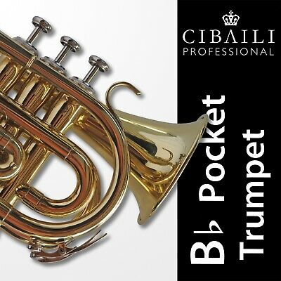 CIBAILI RED Bb POCKET TRUMPET • High Quality  • Brand New • With Case •