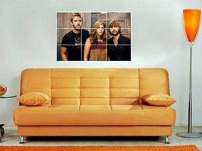 """Lady Antebellum 35""""x25"""" Mosaic Wall Poster Country"""