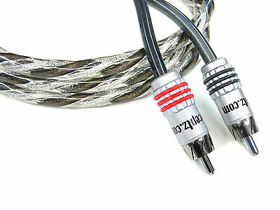 NEW KnuKonceptz Karma Twisted 2 Channel RCA Cable 6.5ft