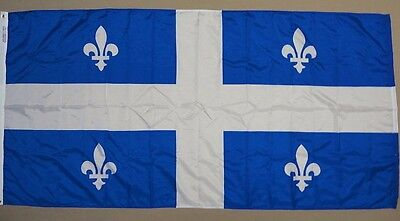 Quebec Province Canada Indoor Outdoor Nylon Dyed Flag 3/' X 6/' With Grommets