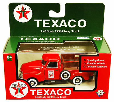 Gearbox 1:43 1950 Chevrolet 3100 Pick-up w Stake Sides Texaco Fire Chief MIB
