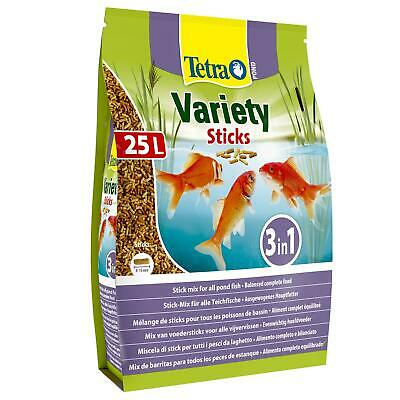 4100g/4.1kg/25 LITRE TETRA POND VARIETY STICKS FLOATING KOI FISH FOOD VARIED