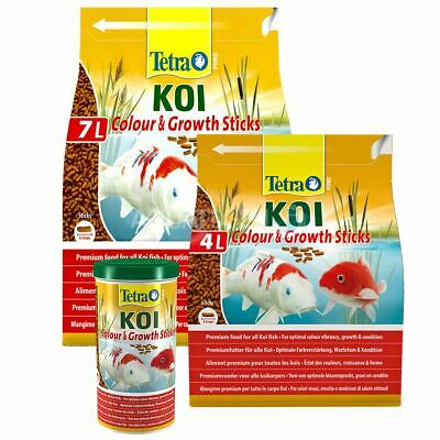 Tetra Pond Colour And Growth Sticks Floating Koi Fish Food Diet Premium Garden