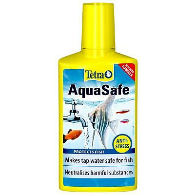 250ml TETRA AQUASAFE AQUARIUM TAP WATER DECHLORINATOR CONDITIONER TREATMENT
