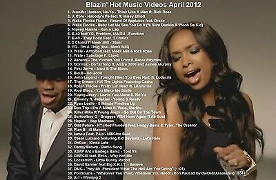 Promo Video Compilation DVD Blazin Hot R&B Music Videos April 2012 ONLY on Ebay!