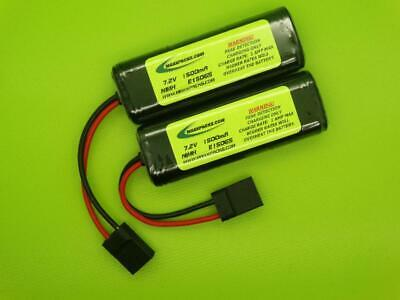 Pair 1600 Battery Packs For 1/16 Traxxas E Revo Vxl + Series & Parallel Adapters
