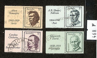 1968 ASC468-71 FAMOUS AUSTRALIANS WITH TABS (4) Very Fine Used Lot F