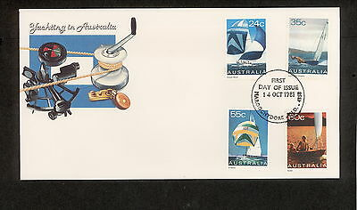 1981 FDC0836 YACHTING First Day Cover MAROOCHYDORE QLD 4558 Postmark