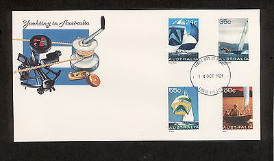 1981 FDC0836 YACHTING First Day Cover CORIO VIC 3214 Postmark