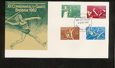 1982 FDC0862 COMMONWEALTH GAMES First Day Cover WOOMERA SA 5720 Postmark