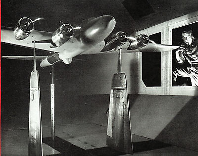 WWII 1944 Ad ~ BOEING Flying Fortress ~ Wind Tunnel Testing Chamber