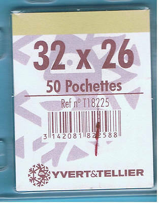 1 Blister 50 Pochettes Transparentes simple soudure 32x26