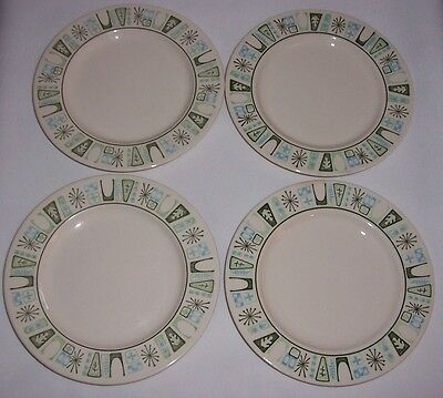 (4)1960's RetroTaylor Smith & Taylor CATHAY ATOMIC BREAD OR PIE PLATES