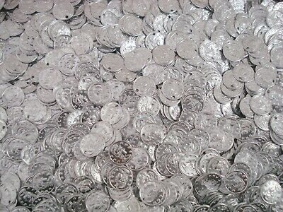 Belly Dancing Coins 10mm Silver 50pc Costume Dance Stage Jewellery FREE POSTAGE