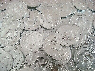 Belly Dancing Coins 29mm Silver 50pc Costume Dance Stage Jewellery FREE POSTAGE