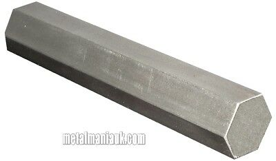 "Bright steel Hex Bar EN1A spec 0.525"" AF x 1000mm hexagon bar"