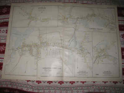 Huge Antique 1898 Rochdale Cherry Valley Leicester Paxton Massachusetts Map Nr