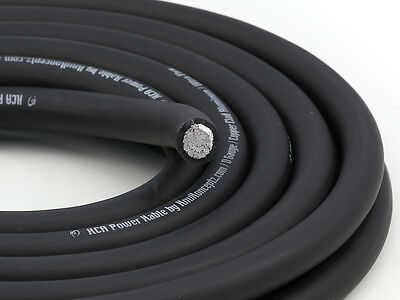 KnuKonceptz KCA Black TRUE AWG 1/0 Gauge Power Wire Ground Cable 20 Feet