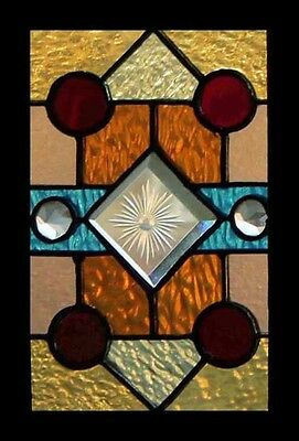 Stunning Victorian Jewel Delightful Stained Glass Window Free Insured Shipping