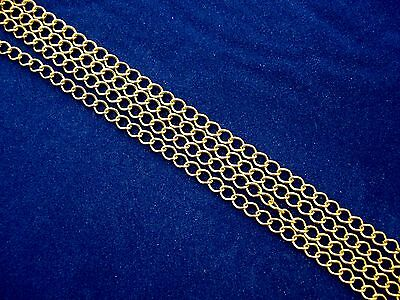 1m Gold Long Curb Chain 4.5mm Wide Jewellery Anklet Necklace FREE POSTAGE