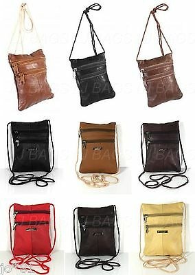 Real Leather Lorenz Shoulder Mini  Neck Purse Cross Body  Travel Satchel Bag1468