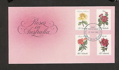 1982 FDC00846 ROSES First Day Cover COLLAROY BEACH NSW 2097 Postmark