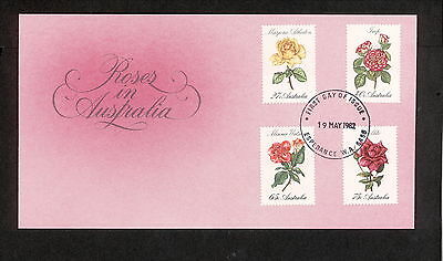 1982 FDC00846 ROSES First Day Cover ESPERANCE WA 6458 Postmark