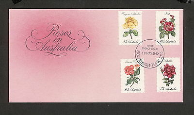 1982 FDC00846 ROSES First Day Cover HOMEBUSH NSW 2140 Postmark