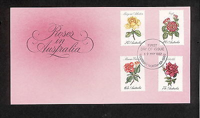 1982 FDC00846 ROSES First Day Cover MODBURY NORTH SA 5092 Postmark