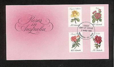1982 FDC00846 ROSES First Day Cover WOOMERA SA 5720 Postmark
