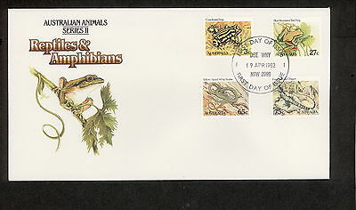1982 FDC0801 ANIMALS 3c 27c 65c 75c FDC DEE WHY NSW 2099 Postmark