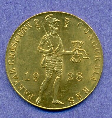 Scarce 1928 gold Ducat from the Netherlands