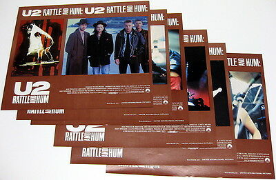 U2 Rattle And Hum MEXICO Lobby Card Set ORG Promo Only MINTY!