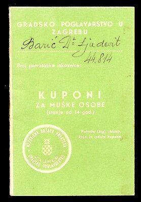 Croatia (Ndh) Wwii - Booklet With Coupons For Males Older Than 14 Years From 194