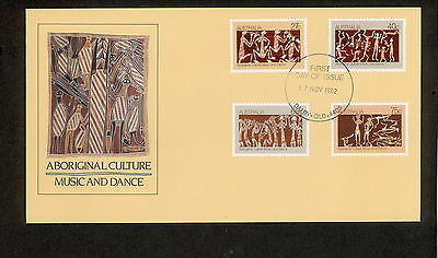 1982 FDC0869 ABORIGINAL CULTURE First Day Cover DALBY QLD 4405 Postmark