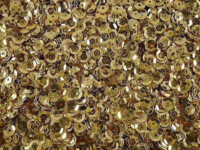 Sequins Metallic Cup 6mm Soft Gold 25g Dancing Costumes Beading  FREE POSTAGE